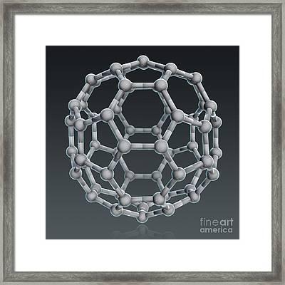 Buckminsterfullerene Molecular Model Framed Print by Evan Oto