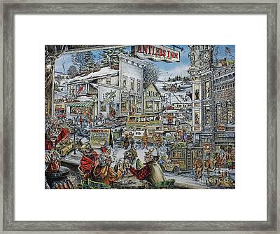Buckville Framed Print by Jack G  Brauer