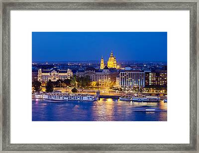 Budapest At Night Framed Print by Artur Bogacki