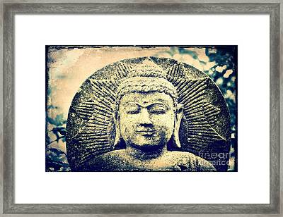 Buddha Framed Print by Angela Doelling AD DESIGN Photo and PhotoArt