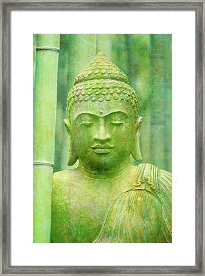 Buddha Bamboo Framed Print by Cora Niele