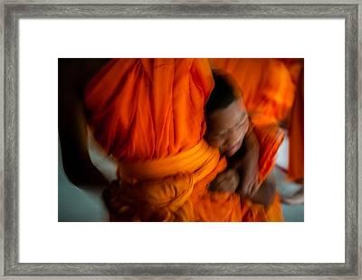 Buddha -boys Will Be Boys - Colour Version Framed Print by Dean Harte