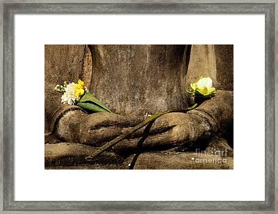 Buddha - Devotional Iv Framed Print by Dean Harte