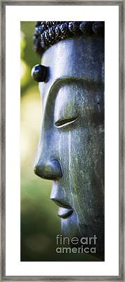 Buddha Face Framed Print by Tim Gainey