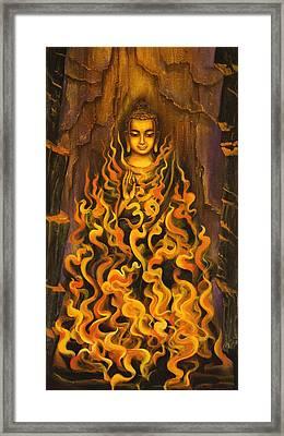 Buddha. Fire Of Meditation Framed Print by Vrindavan Das