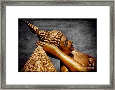 Buddha Golden Framed Print by Adrian Evans