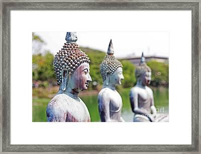 Buddha Framed Print by Lars Ruecker