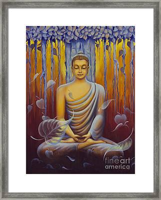 Buddha Meditation Framed Print by Yuliya Glavnaya