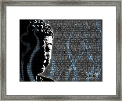 Buddha Quotes Framed Print by Sassan Filsoof