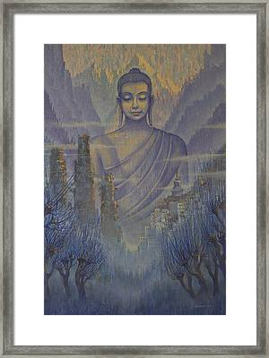 Buddha. Valley Of Silence Framed Print by Vrindavan Das