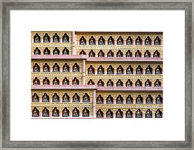 Buddha Wall Framed Print by Tim Gainey