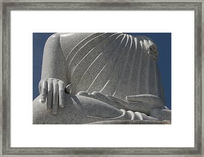 Buddha's Hands - Big Buddha Of Phuket Dthp415 Framed Print by Gerry Gantt