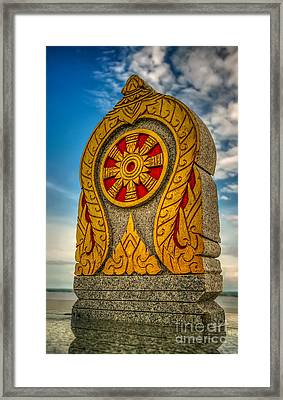 Buddhist Icon Framed Print by Adrian Evans