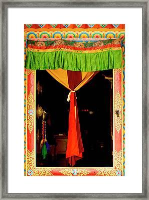 Buddhist  Monastery Art -  Decorated Framed Print by Jaina Mishra
