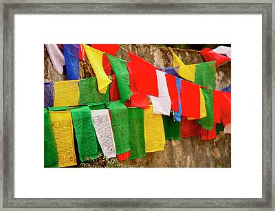 Buddhist  Monastery In Sikkim India Framed Print by Jaina Mishra