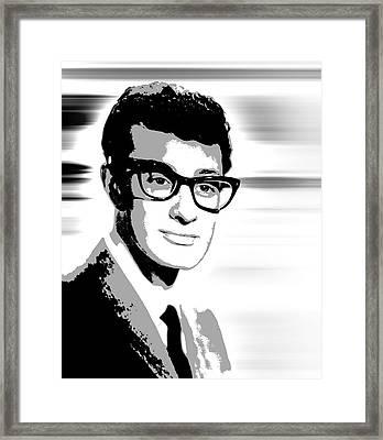 Buddy Holly Pop Art Framed Print by Daniel Hagerman