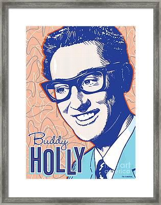 Buddy Holly Pop Art Framed Print by Jim Zahniser