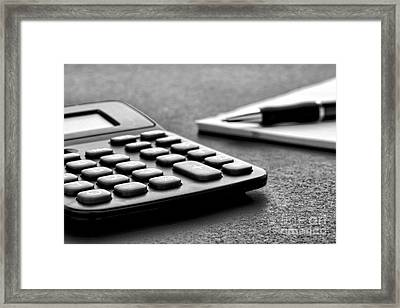 Budgeting  Framed Print by Olivier Le Queinec