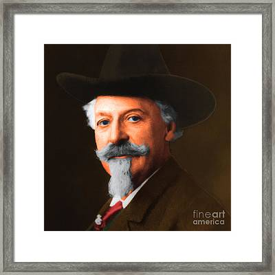 Buffalo Bill Cody 20130516 Square Framed Print by Wingsdomain Art and Photography