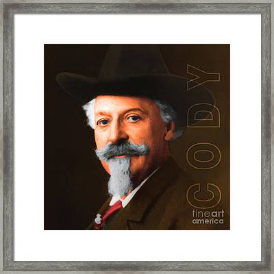Buffalo Bill Cody 20130516 Square With Text Framed Print by Wingsdomain Art and Photography