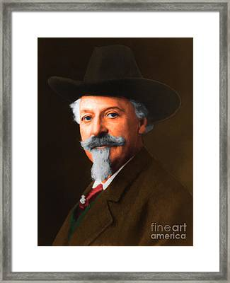 Buffalo Bill Cody 20130516 Framed Print by Wingsdomain Art and Photography
