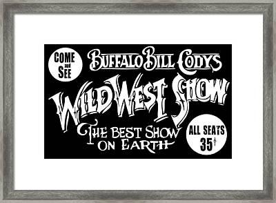 Buffalo Bill Cody Sign 2 Framed Print by Daniel Hagerman