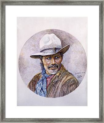 Buffalo Bill Framed Print by Gregory Perillo