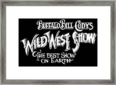 Buffalo Bill Sign Framed Print by Daniel Hagerman