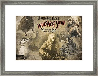 Buffalo Bill Wild West Show Framed Print by Daniel Hagerman