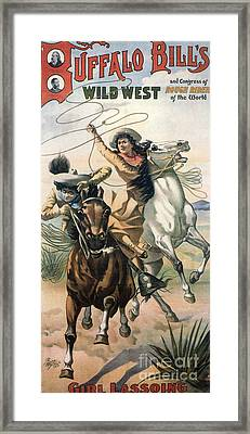 Buffalo Bill�s Wild West Show  1898 Framed Print by The Advertising Archives