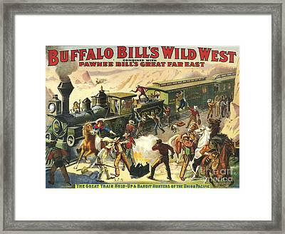 Buffalo Bill's Wild West Show  1907 Framed Print by The Advertising Archives