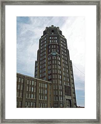 Buffalo Central Terminal Clock Tower Framed Print by Cecelia Helwig