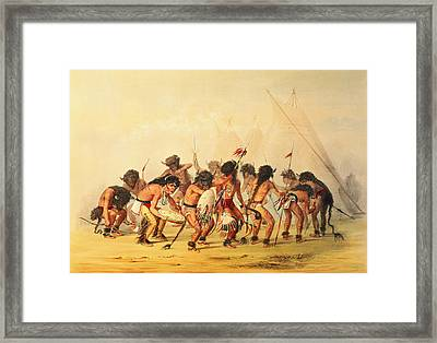 Buffalo Dance Framed Print by George Catlin