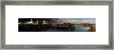 Buffalo Dusk To Dark Framed Print by Peter Chilelli