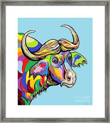 Buffalo Framed Print by Eloise Schneider