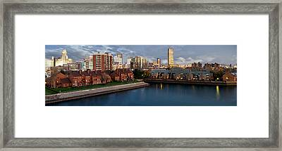 Buffalo Evening Framed Print by Peter Chilelli