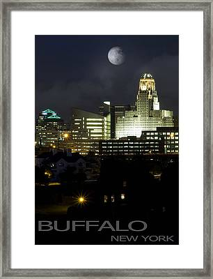 Buffalo New York Framed Print by Peter Chilelli