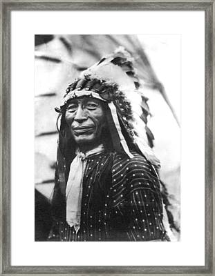 Buffalo Nickel Portrait Framed Print by Underwood Archives