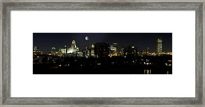 Buffalo Night Moves Framed Print by Peter Chilelli