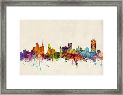 Buffalo Skyline Framed Print by Michael Tompsett
