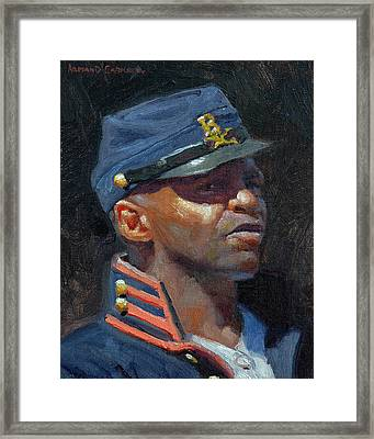 Buffalo Soldier Framed Print by Armand Cabrera