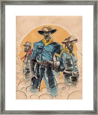 Buffalo Soldiers Framed Print by Tu-Kwon Thomas