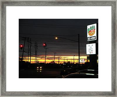 Buffalos Best At Sunset Framed Print by Suzanne Perry