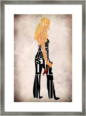 Buffy The Vampire Slayer Framed Print by Ayse Deniz