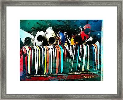 Bug Eyes And Tongues Framed Print by Sadie Reneau