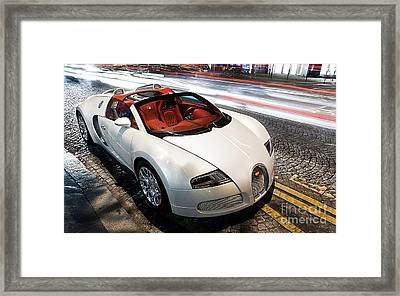 Bugatti Is Art In Motion  Framed Print by Marvin Blaine