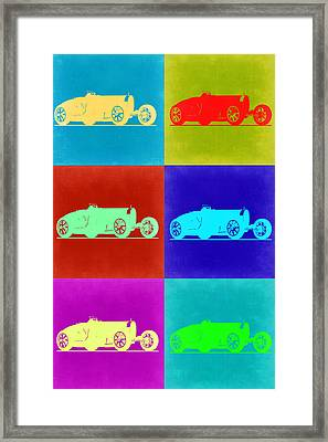 Bugatti Type 35 R Pop Art 2 Framed Print by Naxart Studio