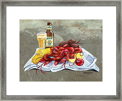 Bugs And Beer Framed Print by Elaine Hodges