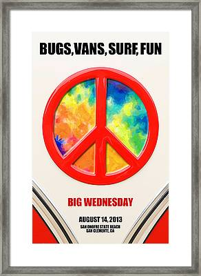 Bugs Vans Surf Fun Framed Print by Ron Regalado