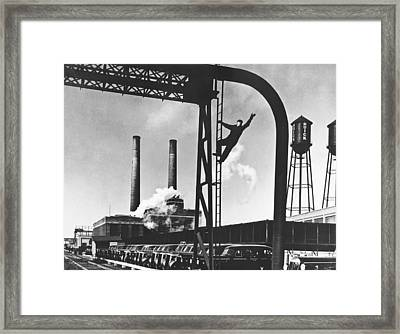 Buick Manufacturing Plant Framed Print by Underwood Archives